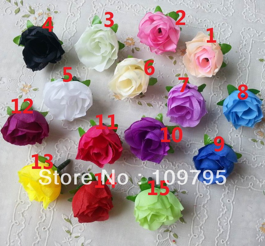 small rosebud artificial silk flower head small rose head wedding flowers 3cm wholesale. Black Bedroom Furniture Sets. Home Design Ideas
