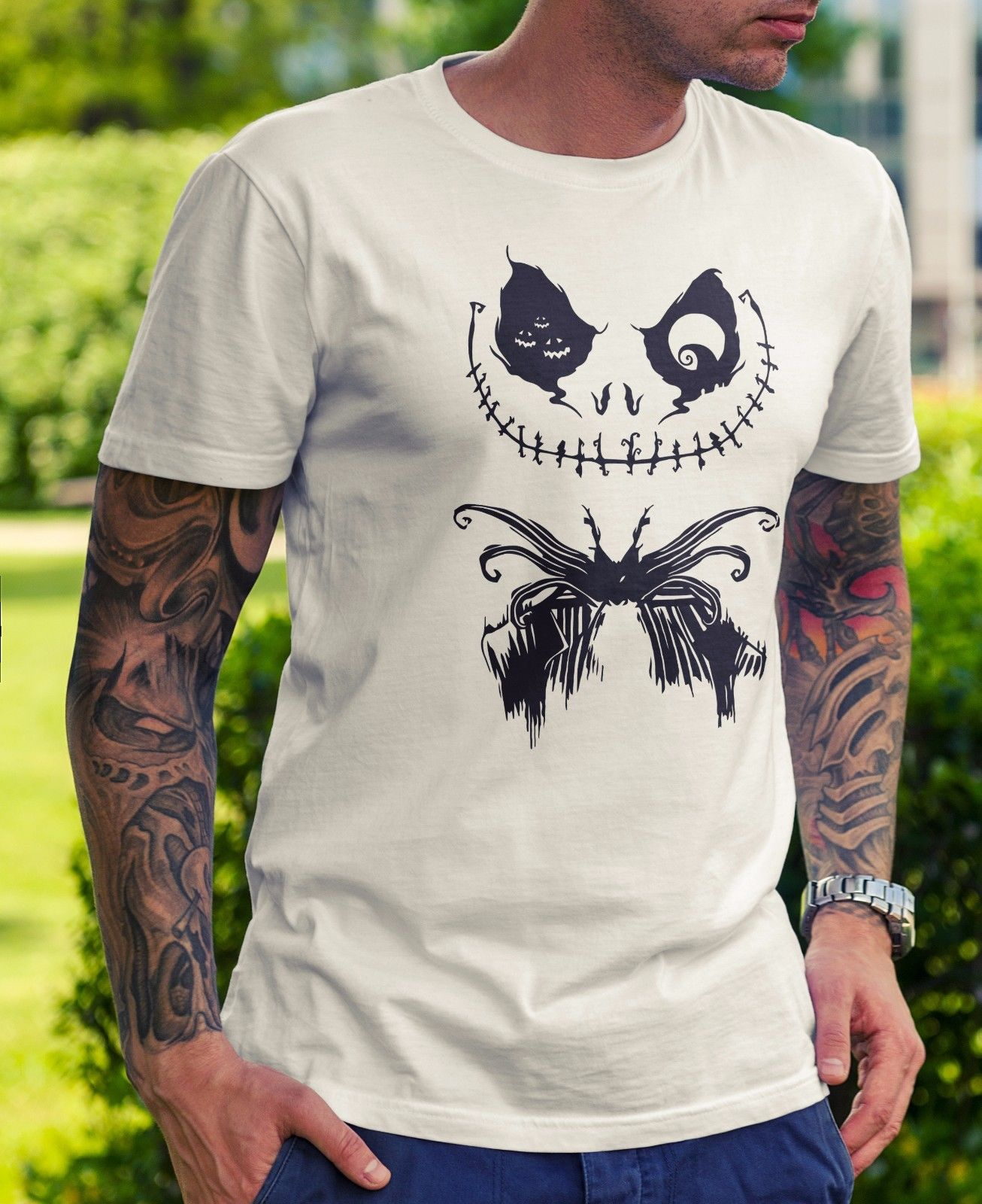 Mens Nightmare Before Christmas Jack T-Shirt - Funny Gift Novelty Dad Man Cute