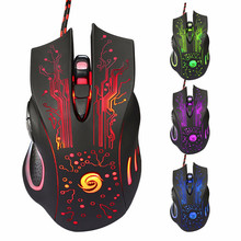 Hot LED Light USB Wired Gaming Mouse Mice 6 Buttons 3200DPI Optical Wired Gaming Game Mouse Laptop Mice For Pro Gamer for LOL