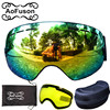 Snowboard Ski Goggles Double Lens Big Spherical Winter Anti Fog Gafas Motocross Glasses Yellow Lens