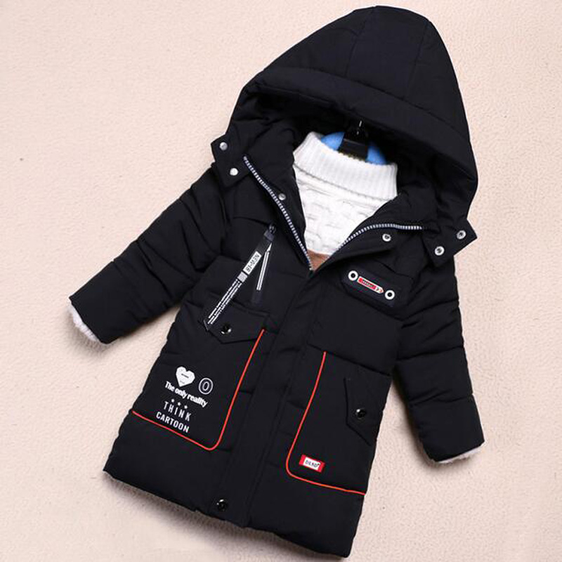 2017 New Boys Jacket Winter Boy Padded Outerwear Baby Kids Down Parka Children Warm Coats 5 to 11 Years children winter coats jacket baby boys warm outerwear thickening outdoors kids snow proof coat parkas cotton padded clothes