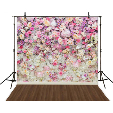 150*200cm Spring Flowers  Vinyl Backdrops for Photography Retro Wall Photo Studio Props Baby Children Background Cloth Studio