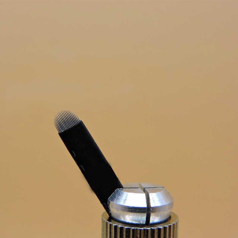 2018 verkauf Agulha Tattoo Nadeln Microblading Nadel Klingen Dia 0,2mm 18-pin U Form Tattoo Hand Microblasting Stift nadeln Hot