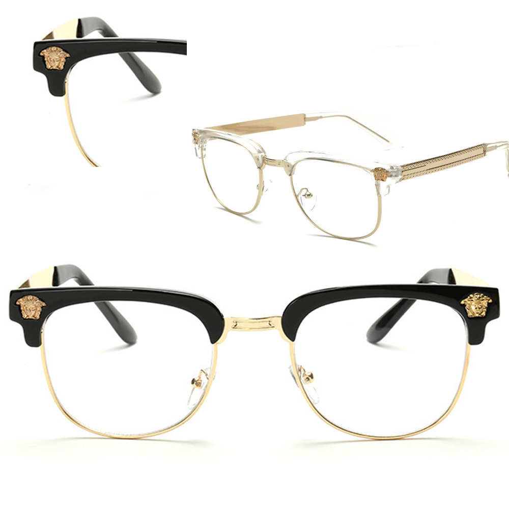 Special Decoration Retro Browline ROUND GLASSES FR...