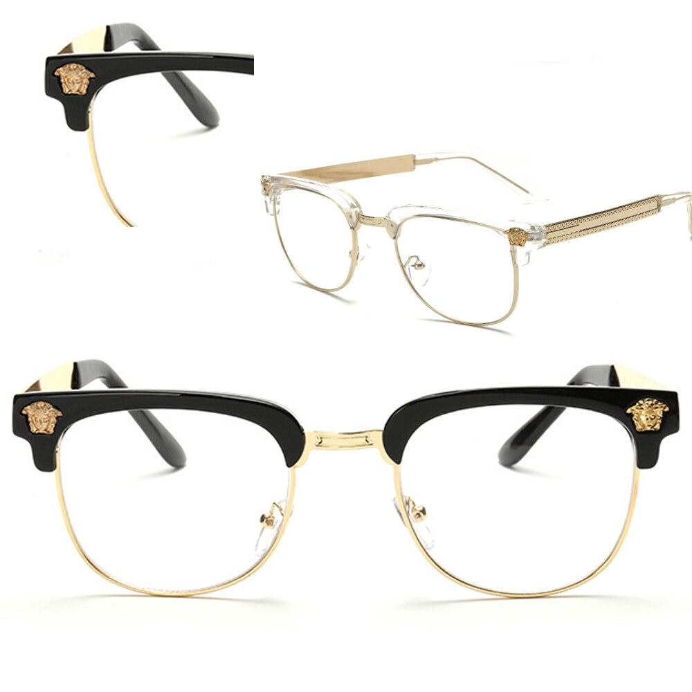 Spezielle Dekoration Retro browline runde Brille Rahmen Maß optische ...
