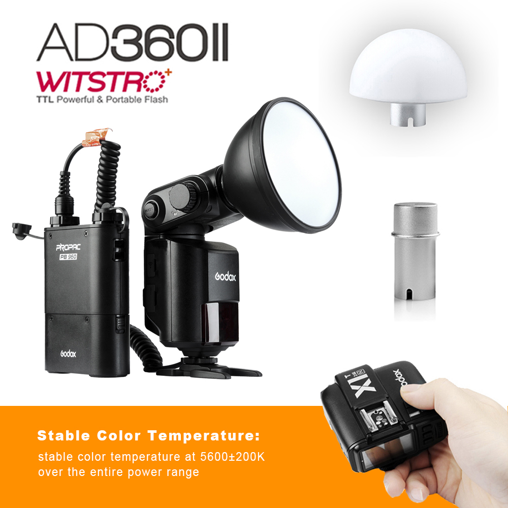 Godox Flash Witstro AD360IIN+PB960 TTL On/Off-Camera Flash Speedlite with X1T Wireless Trigger kit for NIKON Camera viltrox fc 16 off camera flash trigger w light control trigger black