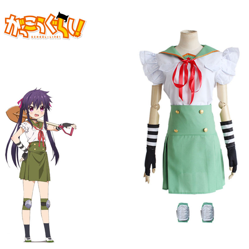 Ebisuzawa Kurumi Cosplay Gakkou Gurashi School-Live Janpanese Anime Costumes Fancy Girls School Uniforms Full Set For Party