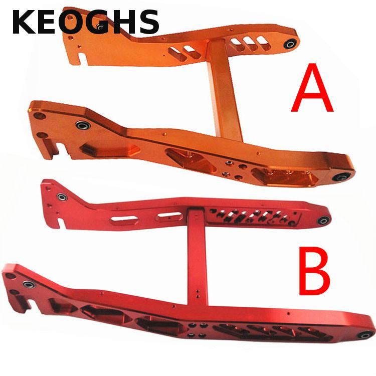 Keoghs Motorcycle Scooter Rear Swing Arm Cnc Aluminum Alloy Personality Modification For Yamaha Scooter Bws Free