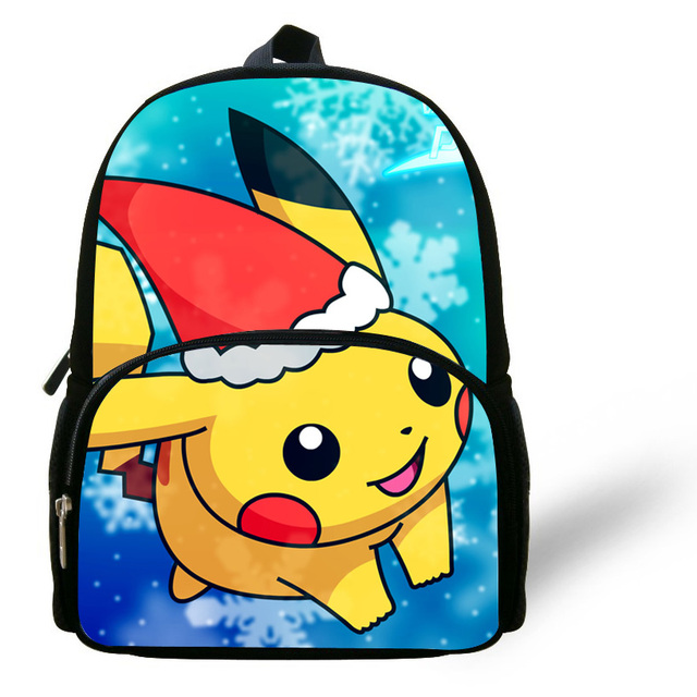 bdb733ddfe 12-inch Cute Mochila Schoolbag Pikachu Backpack For Baby Preschool Cartoon  Bags For Girls Boys Children