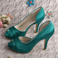 Wedopus MW702 Women Green Olive Heels 2015 Platform Shoes Party with Open Toe