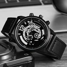 купить SOKI Mechanical Gears Unique Design Big Dial Watch Leather Strap Men Women Casual Fashion Sport Quartz Modern Gift Wrist Watches недорого