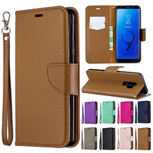 Wallet leather case flip for Samsung Galaxy J4 Plus J6 A6 2018 S9 Flip stand PU