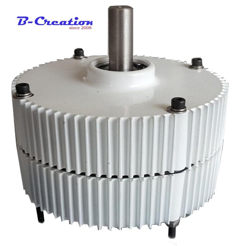 Alternateur d'aimant PERMANENT de générateur d'éolienne de terre Rare sans brosse de 300 W AC12V/24 V