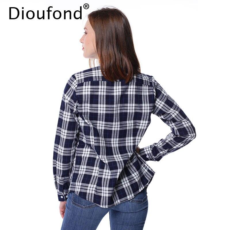 Dioufond Camicie in Flanella a Quadri per Donna