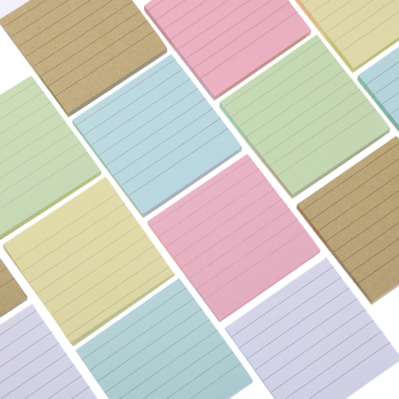 80 Pages/set Soild Color Memo Pad Diy Post It Kawaii Stationery School Stationery Set Office Supplies Notepad Cute Sticky Notes rainbow northern europe memo pad paper sticky notes notepad post it stationery papeleria school supplies material escolar