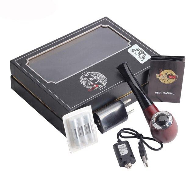 Mini E pijp 628 E-Sigaret Kit Geschikt voor 510 Thread verstuiver pijp vapor vape met Cartridge Houten kleur rook kit
