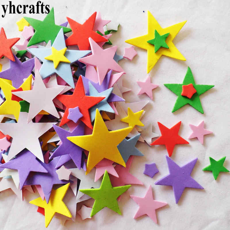 100PCS/LOT,Mixed Star foam stickers,Kids toy.Scrapbooking kit.Early learning educational DIY toys kindergarten crafts material