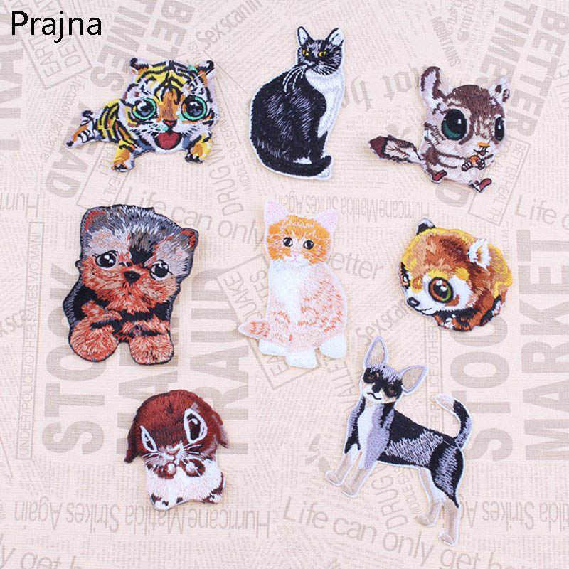 1PCS Tier Einhorn Hund Tiger Katze Panda Patch Abzeichen Applique Nette Günstige Gestickte Eisen Auf Cartoon Patches Für Kleidung aufkleber
