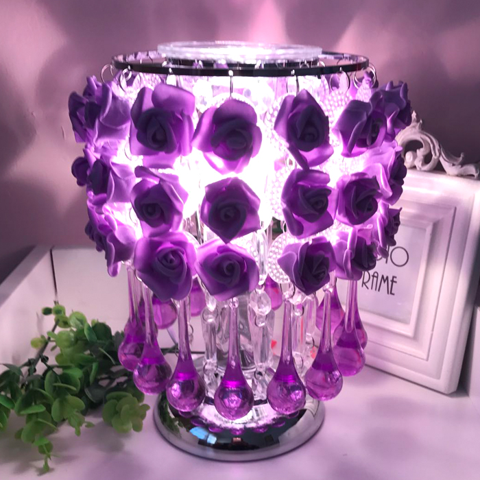 Romantic rose decoration red blue pink table lamp creative holiday gift living room bedroom lighting desk lamps ZA927525 100pcs lot red rose table decoration place card wedding party decoration laser cut heart floral wine glass paper place cards