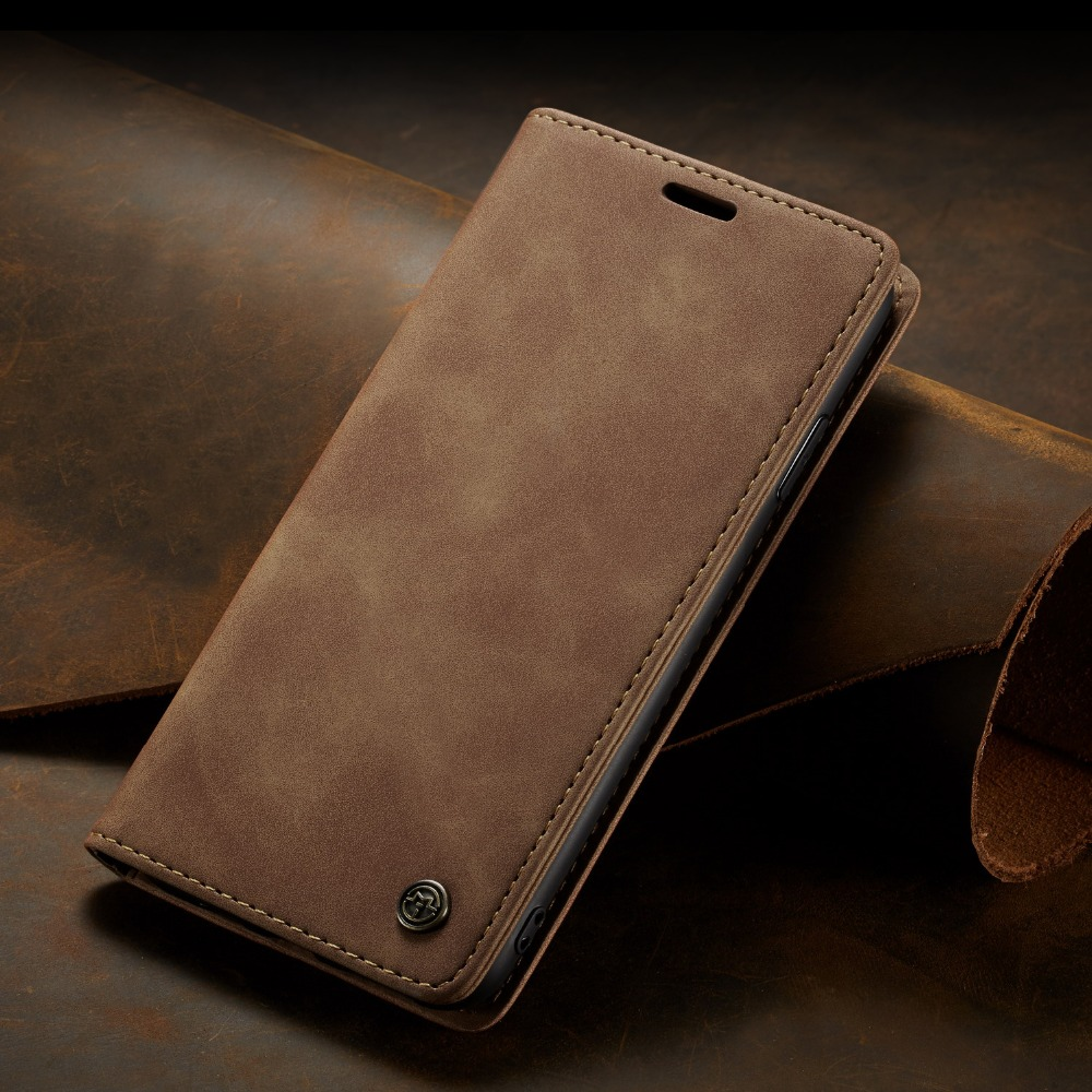 Luxury Vintage Matte PU Leather Magnetic Phone Case Card Holder Retro Flip Wallet Cover for iPhone Xs Max XR X 8 7 6s Plus 5s se
