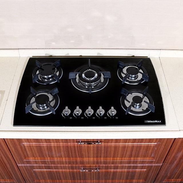 30 Black Gl Lpg Ng Built In Kitchen 5 Burner Oven Gas Cooktop Stove 3 3kw