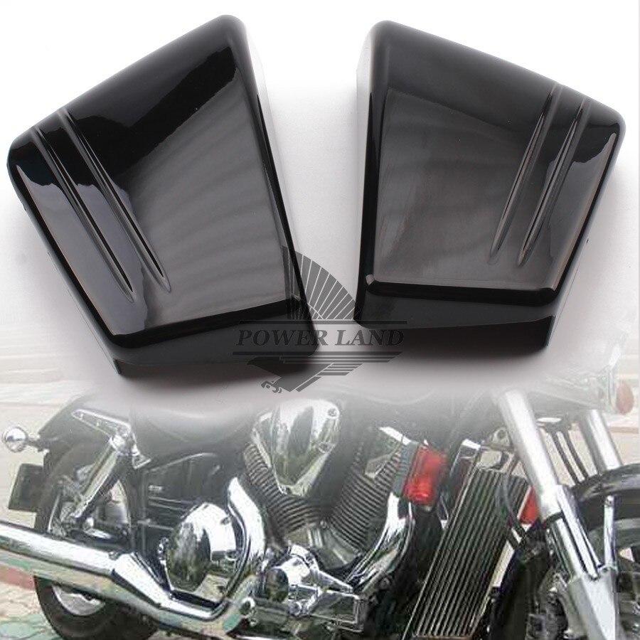 Black Battery Side Cover For Honda VTX1800 VTX 1800C Custom 02 03 04 06 07 08