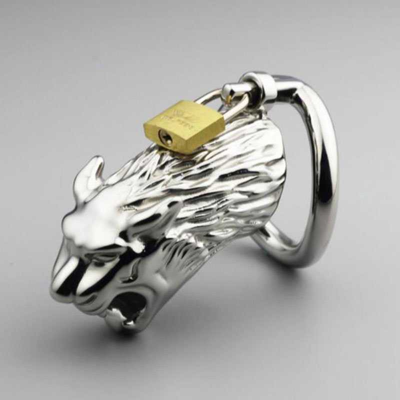 Leopard shaped Stainless Steel Male Chastity Cage Metal Cock Ring Newest Penis Cage Men Cock ring Sex ToysLeopard shaped Stainless Steel Male Chastity Cage Metal Cock Ring Newest Penis Cage Men Cock ring Sex Toys