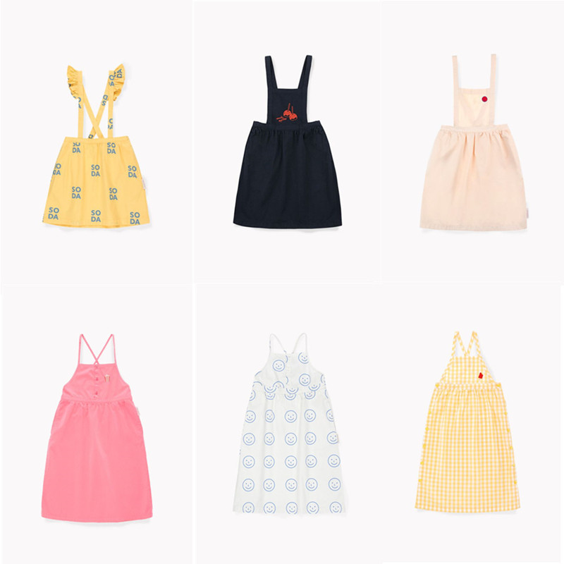 BOBOZONE 2019SS TC Soda Frill Suspender Skirt dress for kids girlsBOBOZONE 2019SS TC Soda Frill Suspender Skirt dress for kids girls