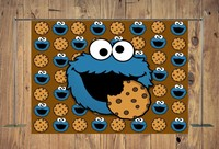 Cookie Monster Party baby shower photo backdrop High quality Computer print birthday photo studio background