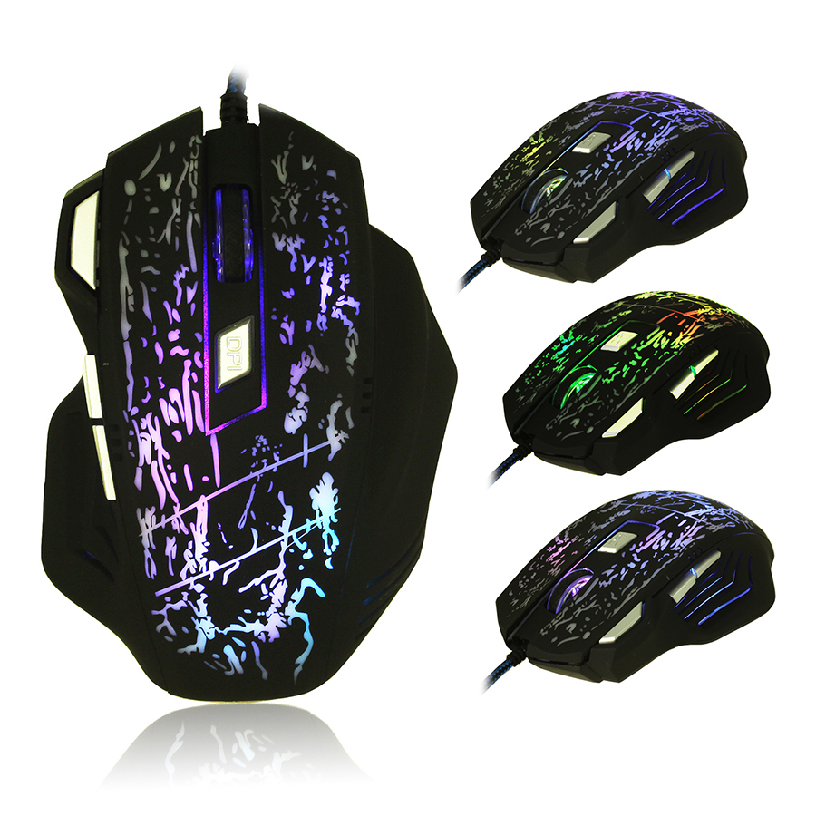2016 New 5500DPI 7 Buttons 7 colors LED Optical USB Wired Mouse Gamer Mice computer mouse Gaming Mouse For Pro Gamer ...