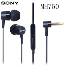 Original SONY MH750 3.5mm Stereophone Xperia Series Earphone for Sony Z 1 2 3 LT26i LT22i MT25i ST25i MT27i Compatible Iphone(China)