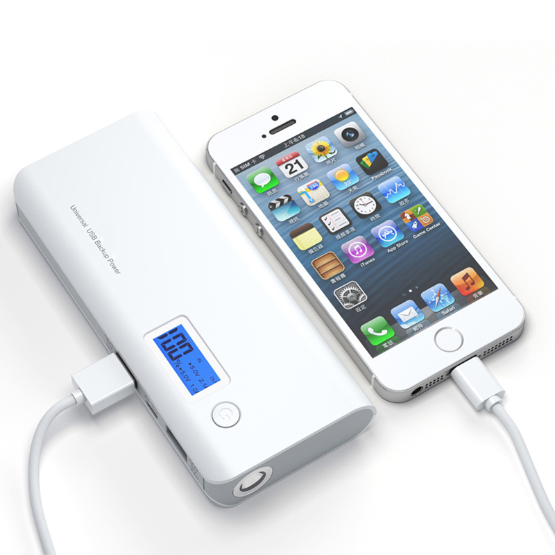 Power Bank Echt 30000 mah Dual USB + LED Licht LCD Display Externe Hohe Kapazität Backup Batterie für Xiaomi Power bank