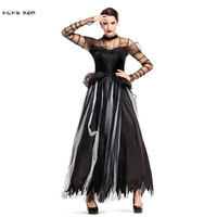 Black Swan Woman Wich Vampire cosplay Female Halloween Corpse Bride Scary Costume Carnival Purim Nightclub Role play party dress
