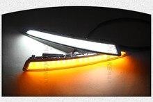 Eosuns LED дневного света DRL для Ford Kuga Побег 2013-14, беспроводной переключатель, желтый сигнал поворота, DIM управления