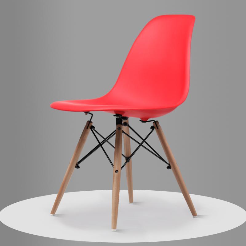 Скандинавский обеденный стол и стулья, современный минималистичный креативный компьютерный офисный стул, повседневный домашний пластиковый кофейный стул - Цвет: Style 9