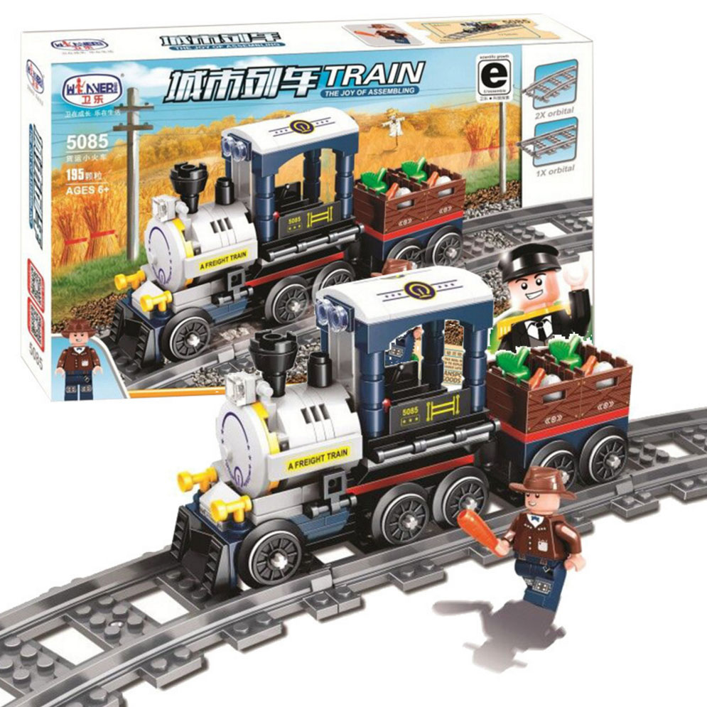 Technic City Series Freight Train Building Block Compatible Legoingly Train Tracks Slideway Assembly Toy for Children Gift(China)