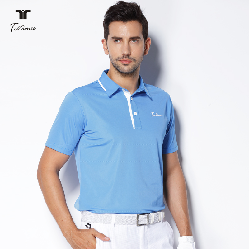 Teetimes New Arrival Golf Polo Shirts for Men Summer Male Quick Dry Breathable T-shirt Short Sleeved Outdoor Sport Golf apparel brand polo golf v short sleeve shirt golf sportswear outdoor wear lady golf apparel fashion summer clothing quick dry new tshirt