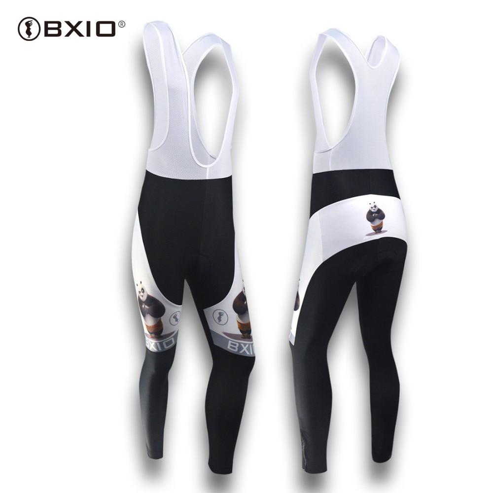 BXIO Cycling Pants New Style Winter Breathable Roupa Fleece Cycling Bib PantsMountain Fleece Bicycle Bib Pants BX-081-P