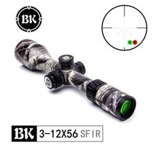 цена на Bobcat King Optics BK 3-12X56SFIR riflescope camouflage appearance tactical optical sight sniper hunting air gun rifle aiming
