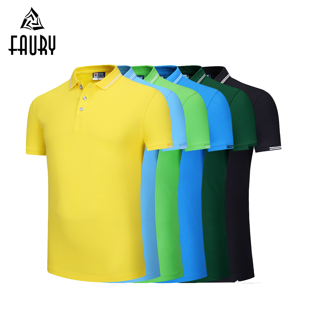 12 Colors Wholesale Hotel Waiter Waitress Uniform Summer Work Polo Collar Shirt Travel Barbers Kitchen Work Coat LOGO Print