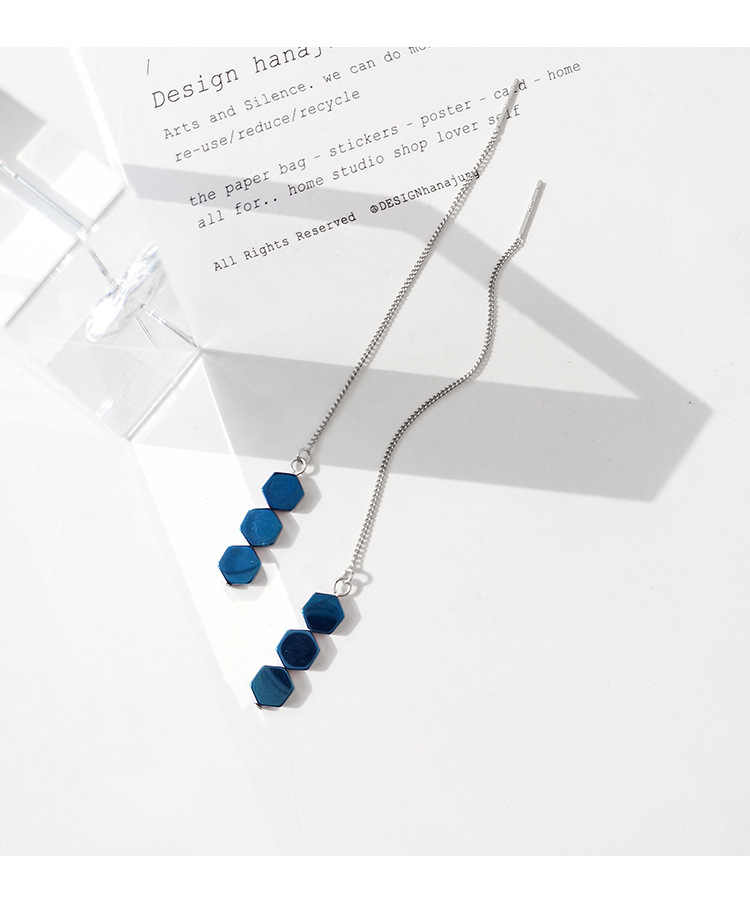 2018 New Design 925 Sterling Silver Drop Earrings Long Chain Earrings For Women Free Shipping Brincos
