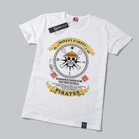 One Piece T Shirt Monkey D Luffy Skull Anime T Shirts Cotton O Neck Short Sleeve