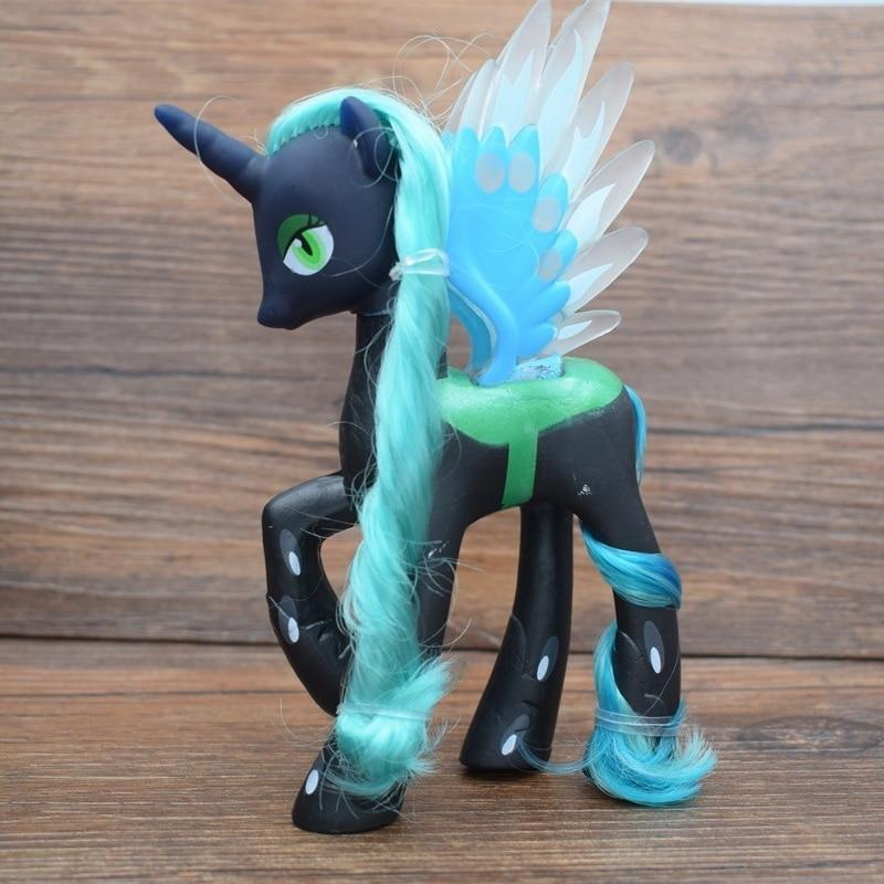2018 New 14cm Little PVC Horse Princess Celestia Princess Luna Unicorn Horse Toys Action Figure Christmas Gift