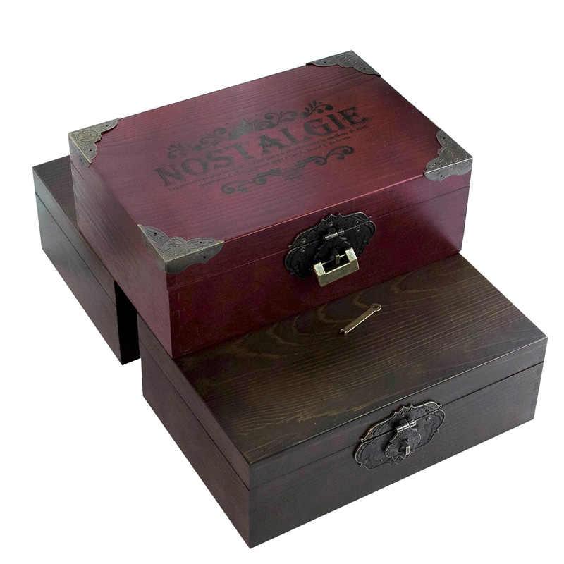 Zakka Vintage สไตล์อียิปต์ไม้กล่องเครื่องประดับสำหรับของขวัญขนาดเล็กไม้หัตถกรรมสำหรับ organizer Desket ตกแต่งบรรจุภัณฑ์
