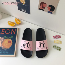 ALL YIXIE2019 Summer Fashion Womens Shoes Sandals and Slippers Cartoon Pigs Wild Casual Beach Seaside Flat