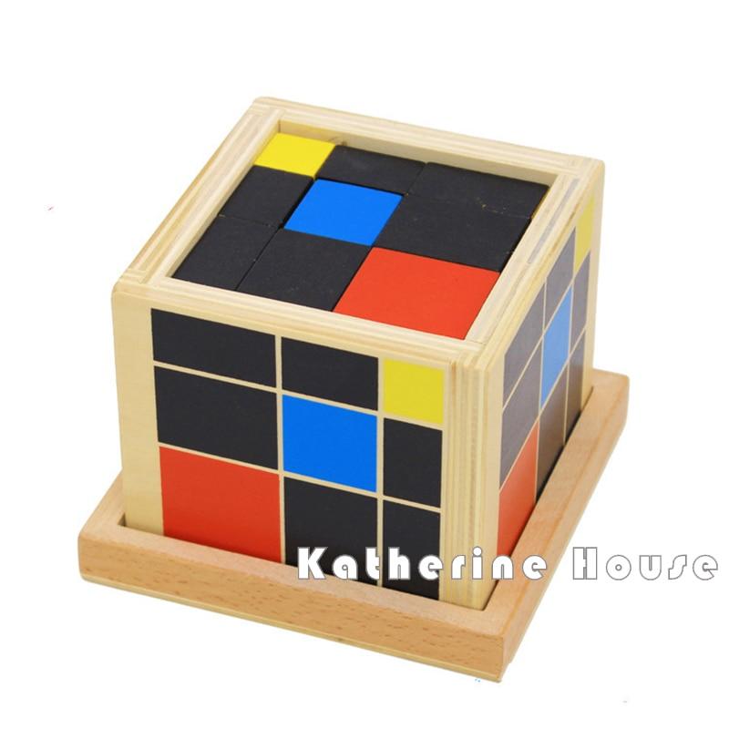 brinquedo do bebe formacao matematica cubo trinomio montessori preschool educacional da primeira infancia aprendendo brinquedos de