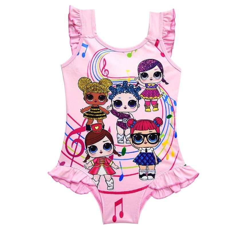 Baby Girls Dress Summer Lol Dolls Swimsuit Girl Swimming Beach Wear Lol Doll Bathing Suits Child Party Bikini Girl Clothes moana сюрпризы lol