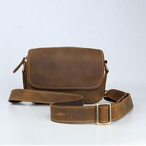Image 2 - AETOO Mens leather shoulder bag simple cowhide crossbody bag male bag Japanese casual pack