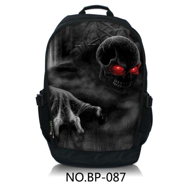 Red Eye Skull Laptop Backpack School Book Backpack Travel Bag For ...