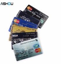 Новое поступление, емкость, модель кредитной карты, 4 ГБ, 8 ГБ, 16 ГБ, 32 ГБ, USB 2,0, карта памяти, флеш-накопитель, флешка, тележка, o cre диски